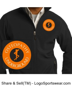 Mens Black Soft Shell Jacket Design Zoom