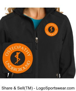 Ladies Black Soft Shell Jacket Design Zoom